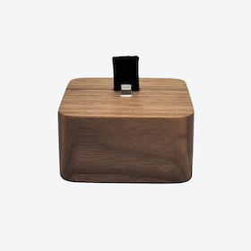 Walnut iPhone Dock Square