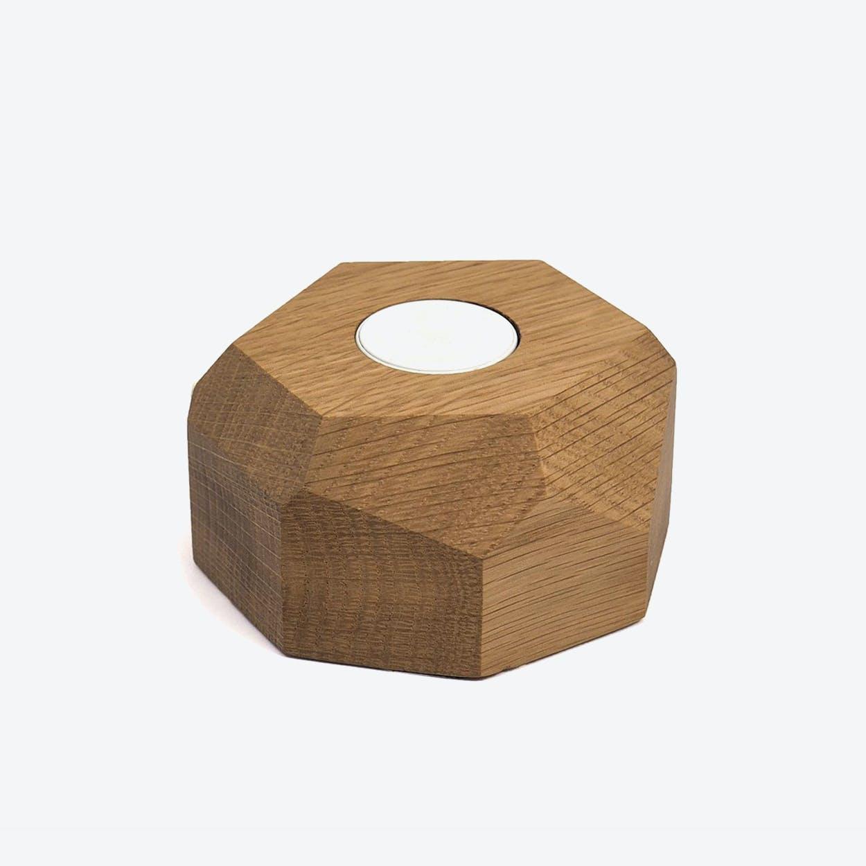 Oak Apple Watch Dock Polygonal