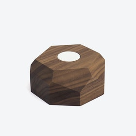Walnut Apple Watch Dock Polygonal