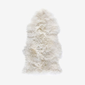 New Zealand Sheepskin Pelt Natural White