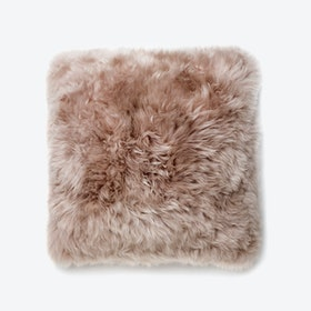 New Zealand Sheepskin Cushion in Light Brown