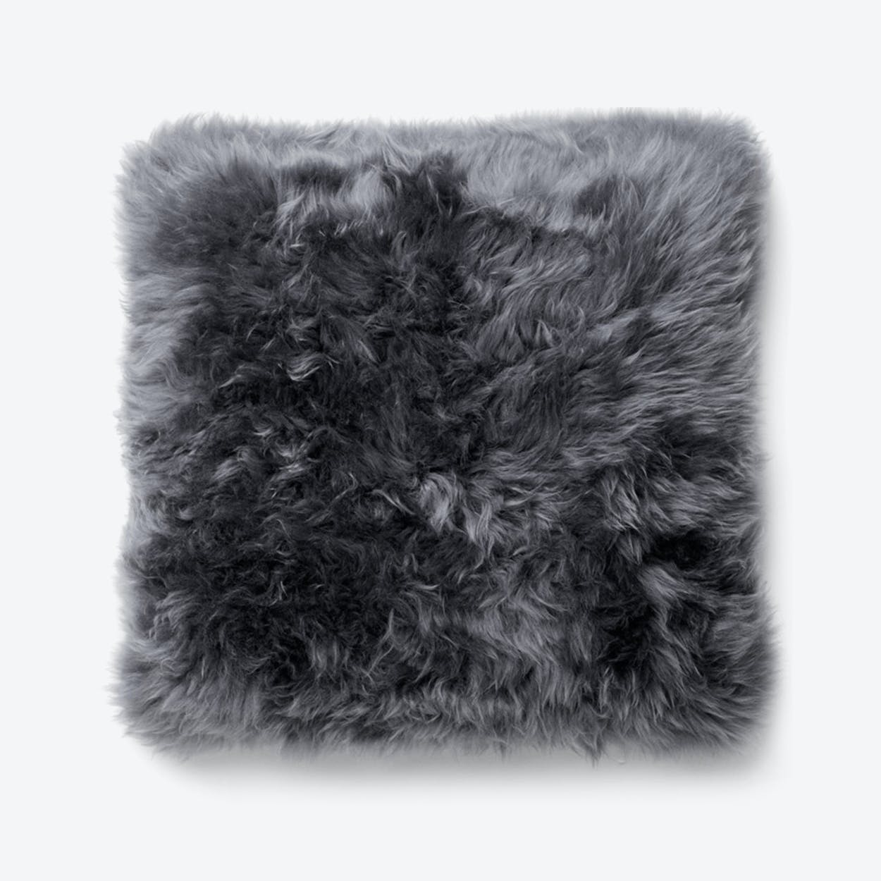 New Zealand Sheepskin Cushion in Grey