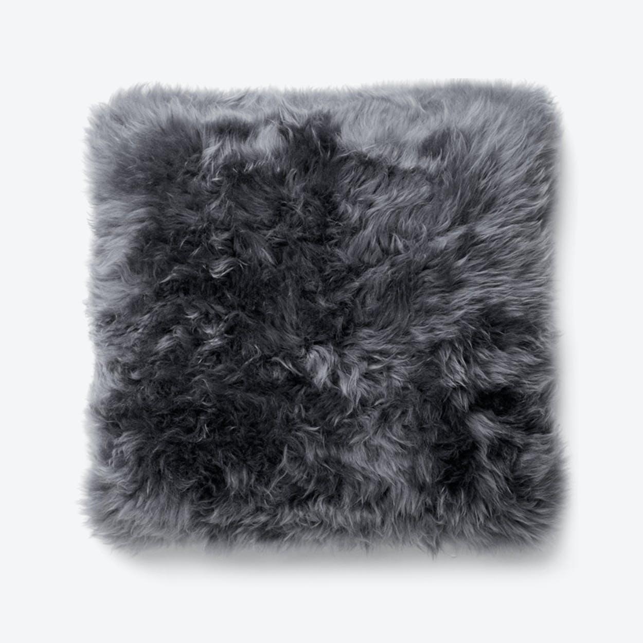 New Zealand Sheepskin Cushion in Grey
