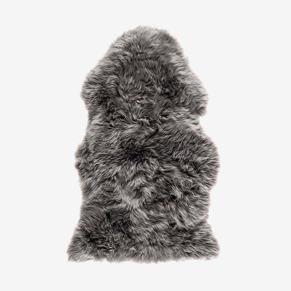 New Zealand Sheepskin Pelt Grey