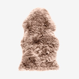 New Zealand Sheepskin Pelt Light Brown