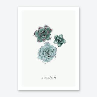 Succulents Art Print II