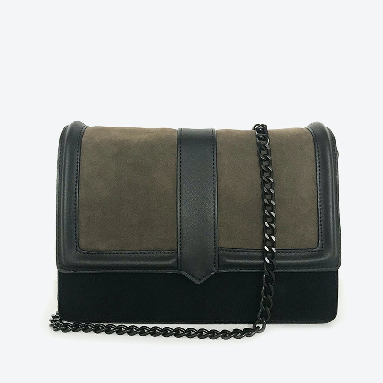 Laval 2  Olive-Black - Crossbody Shoulder Bag