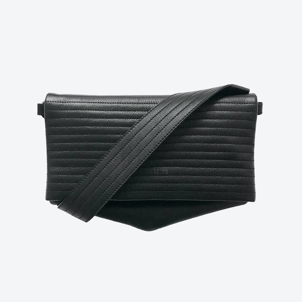 ND Folded Big Pinstripe #6 - 3-in-1 Leather Bag