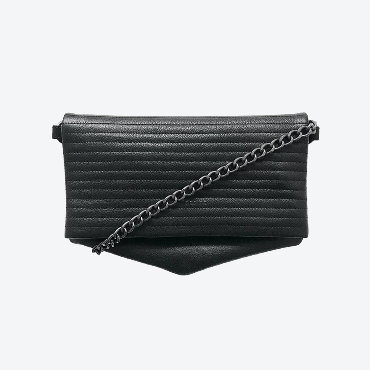 ND Folded Big Pinstripe #5 - 3-in-1 Leather Bag