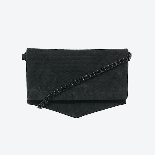 ND Folded Big Pinstripe #2 - 3-in-1 Suede Bag