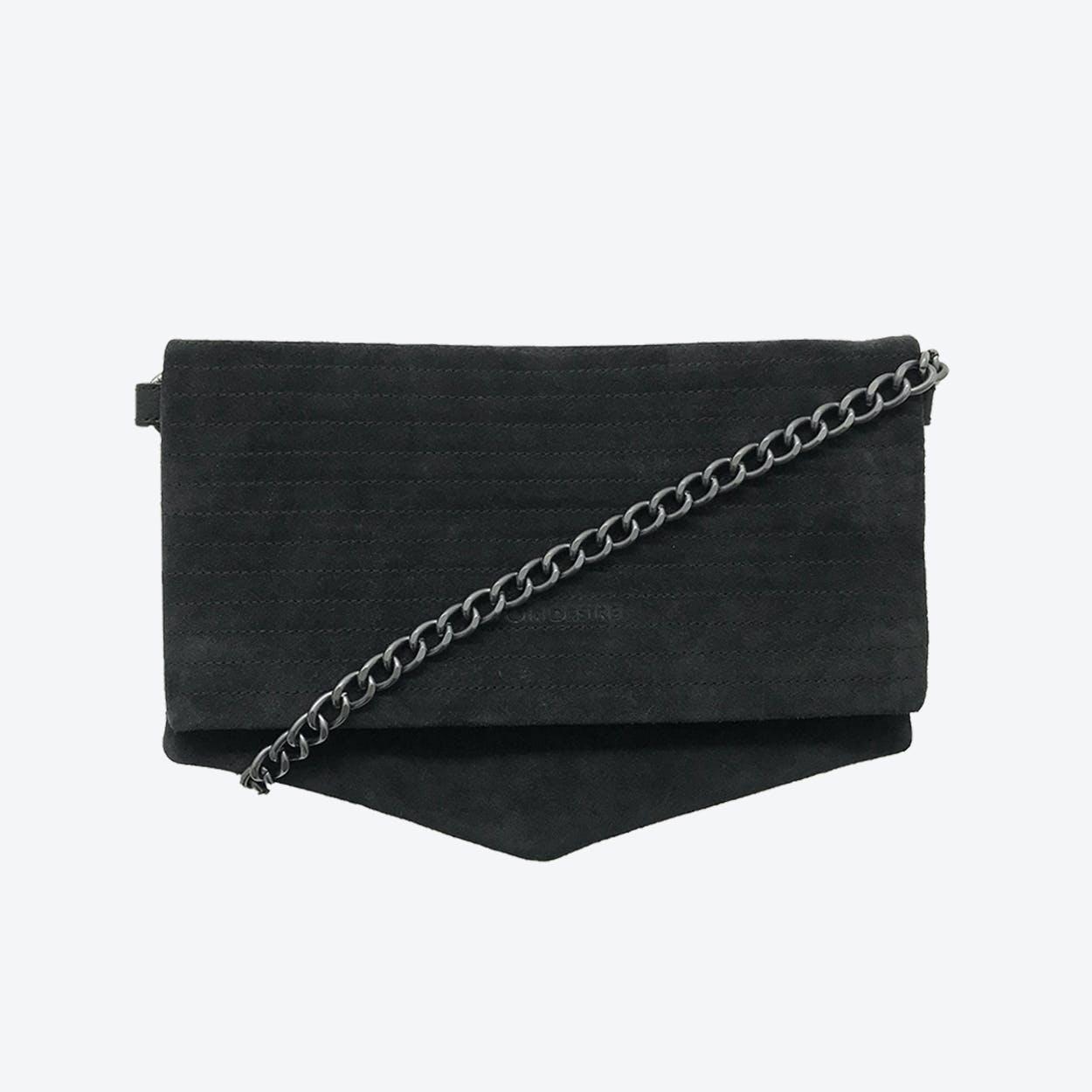 ND Folded Big Pinstripe #4 - 3-in-1 Suede Bag