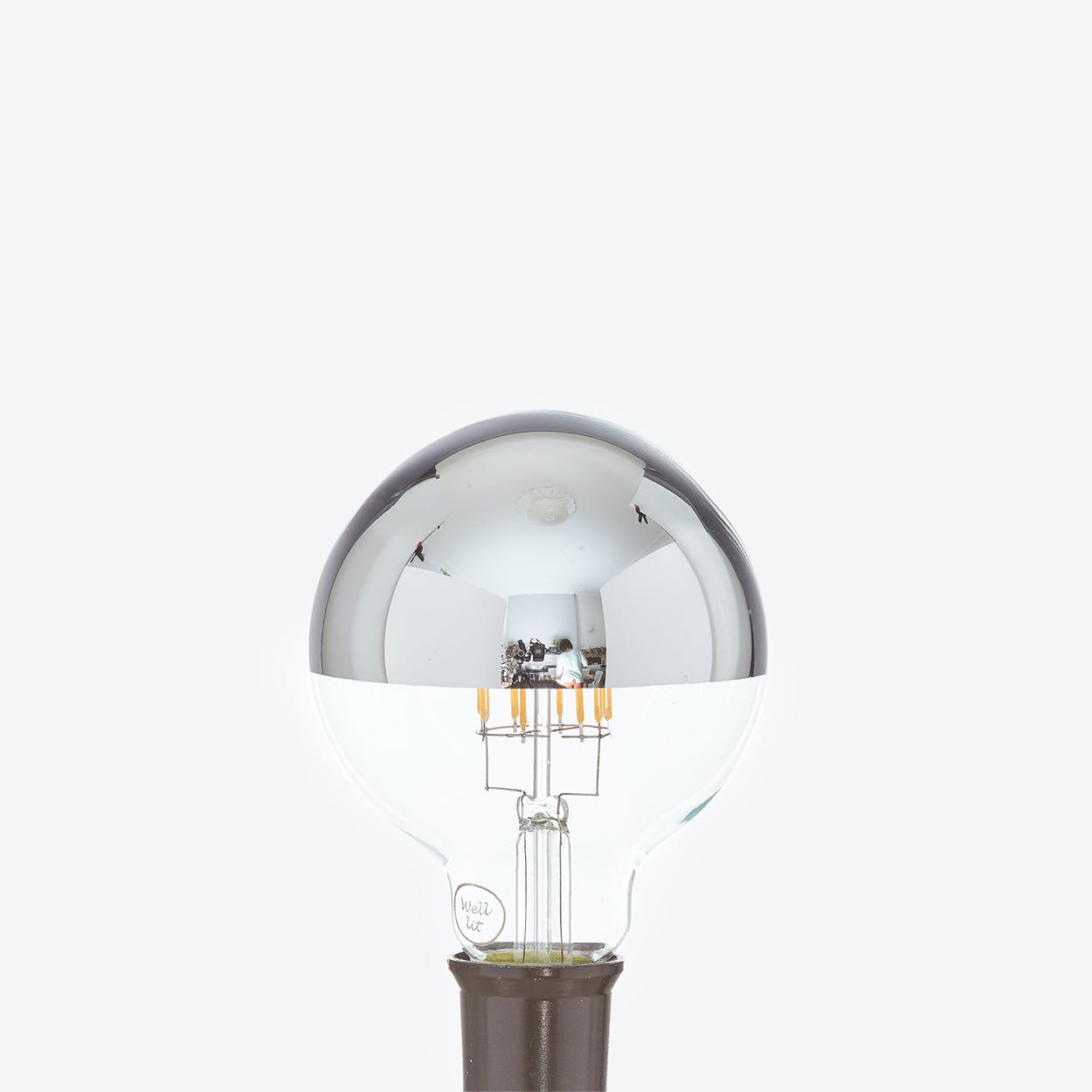 Hektor LED Filament Light Bulb in Silver Crown