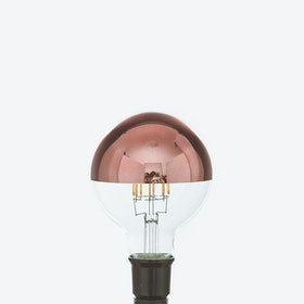 Theo LED Filament Light Bulb in Copper Crown
