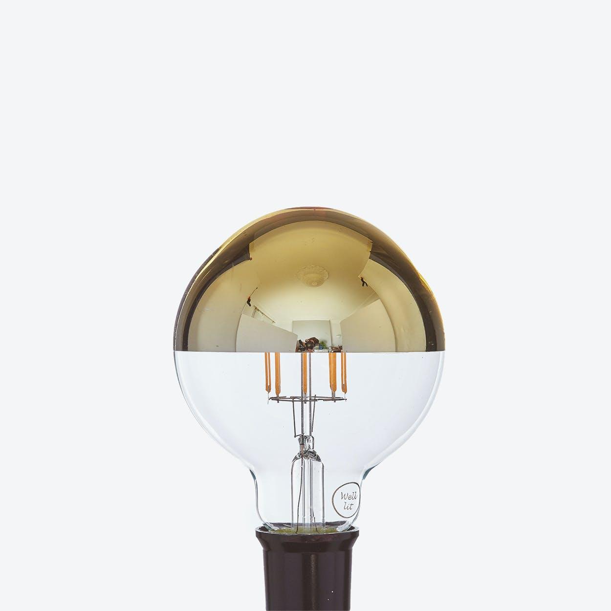 Aurelia LED Filament Light Bulb in Gold Crown