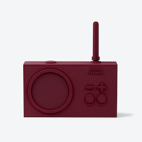 Tykho Radio Rechargeable in Plum Rubber Case