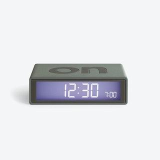 LCD Alarm Clock - Flip Clock Warm Grey  Rubber