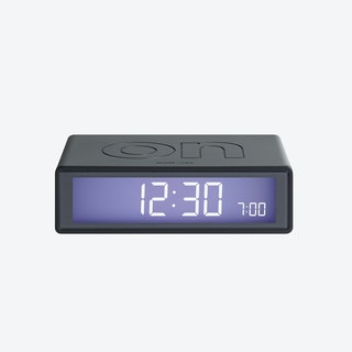 LCD Alarm Clock - Flip Clock Metal Titanium Rubber