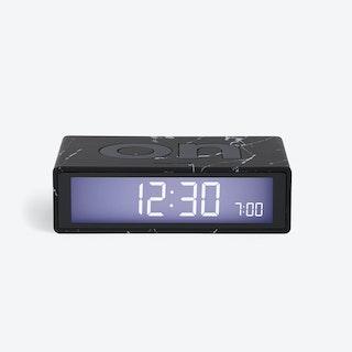 LCD Alarm Clock - Flip Clock Dark Marble Rubber