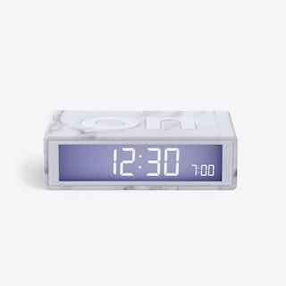 LCD Alarm Clock - Flip Clock Light Marble Rubber