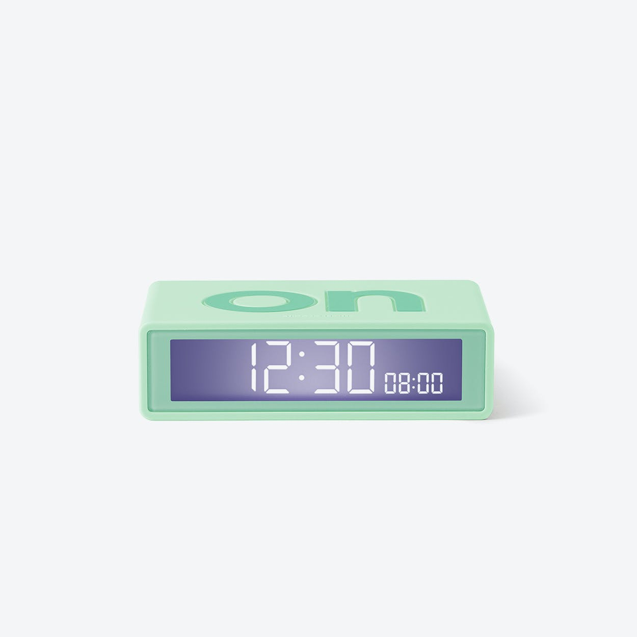LCD Alarm Clock - Flip Travel Clock Light Green