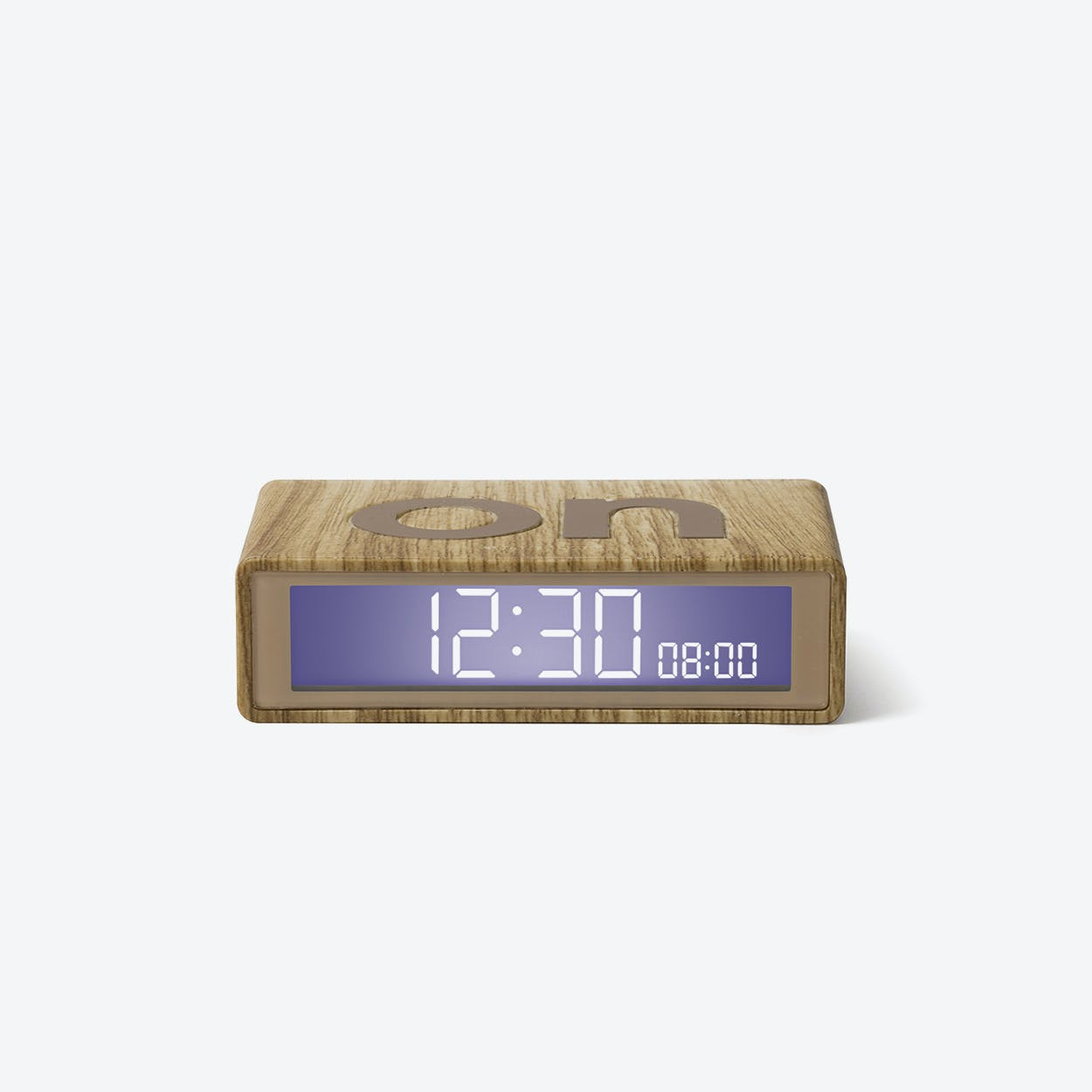 LCD Alarm Clock - Flip Travel Clock Light Wood