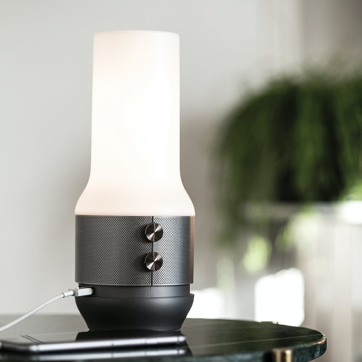 Led Lantern Bluetooth Speaker Powerbank In Terrace Titanium