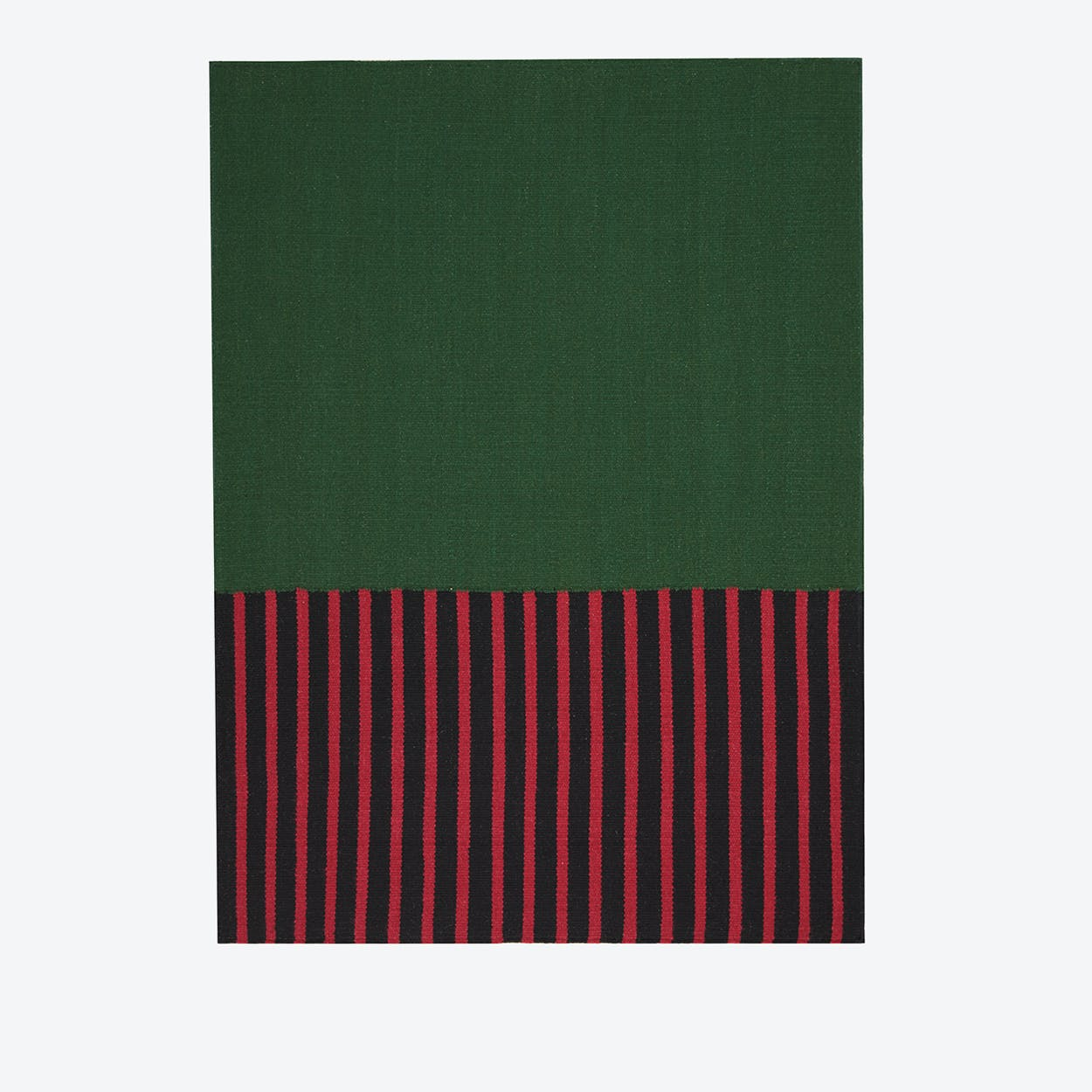 NASHVILLE  Rug in Hunter Green, Magenta & Black