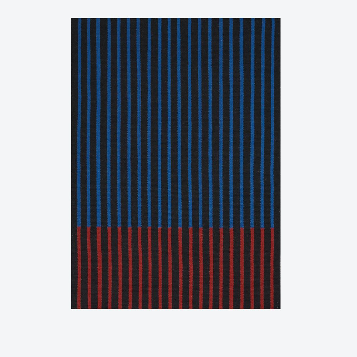 NASHVILLE Rug In Black, Cobalt & Magenta