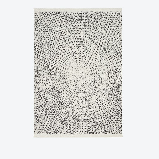 KAMALA Rug in White & Black