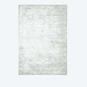 DESERT SKIES Rug in Silver & Green