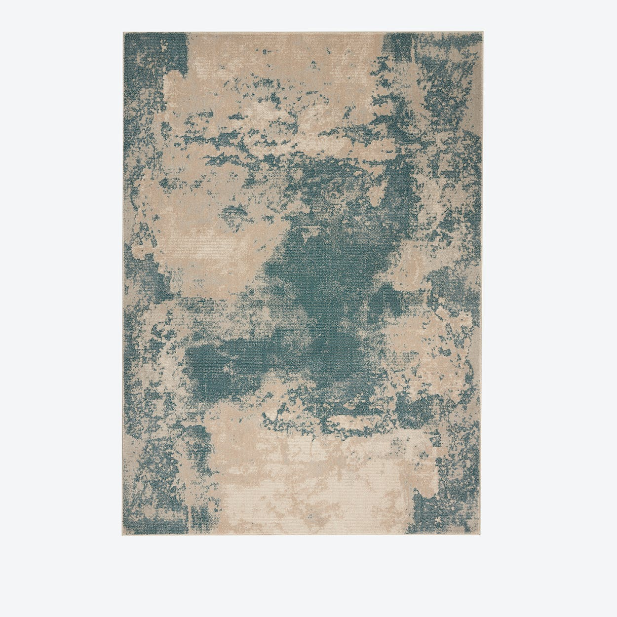 MAXELL Rug in Ivory & Teal