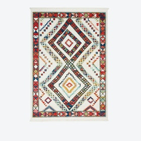 NAVAJO 02 Rug in White