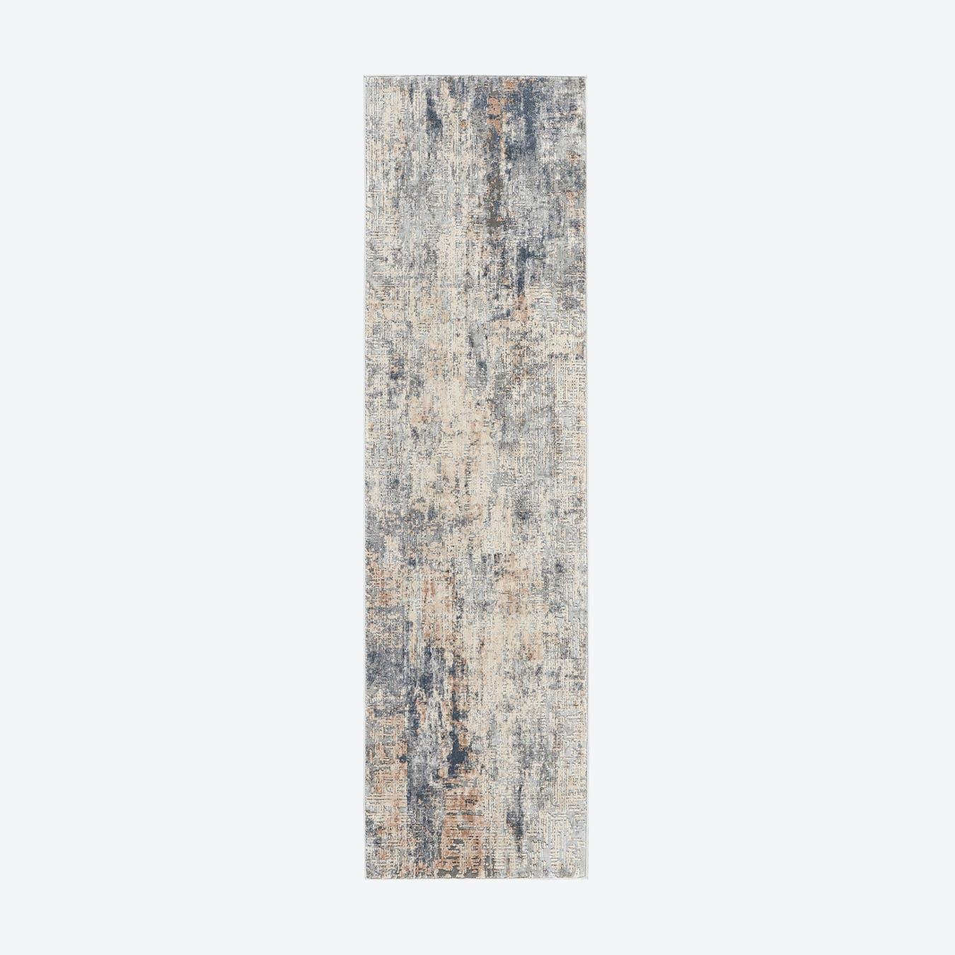 Rustic Textures Grey/Beige Runner