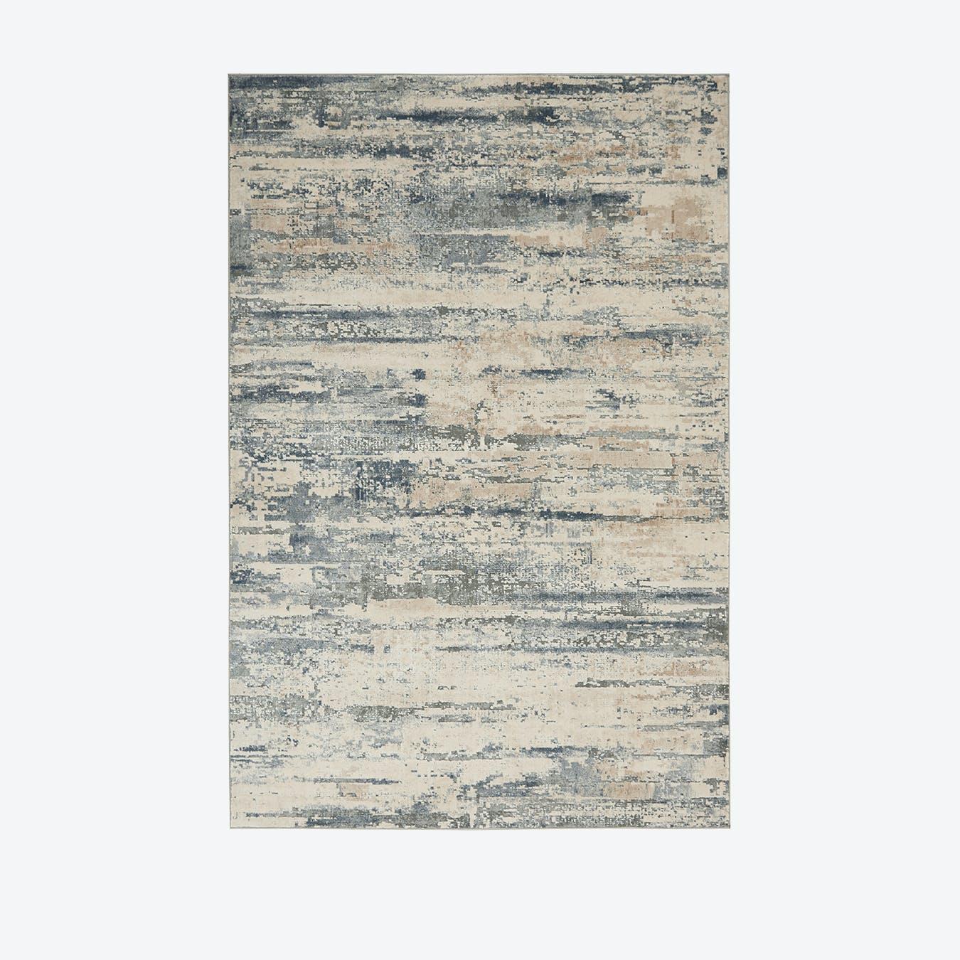 Rustic Textures Beige Grey Rug