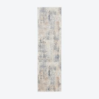 Rustic Textures Grey Beige Runner
