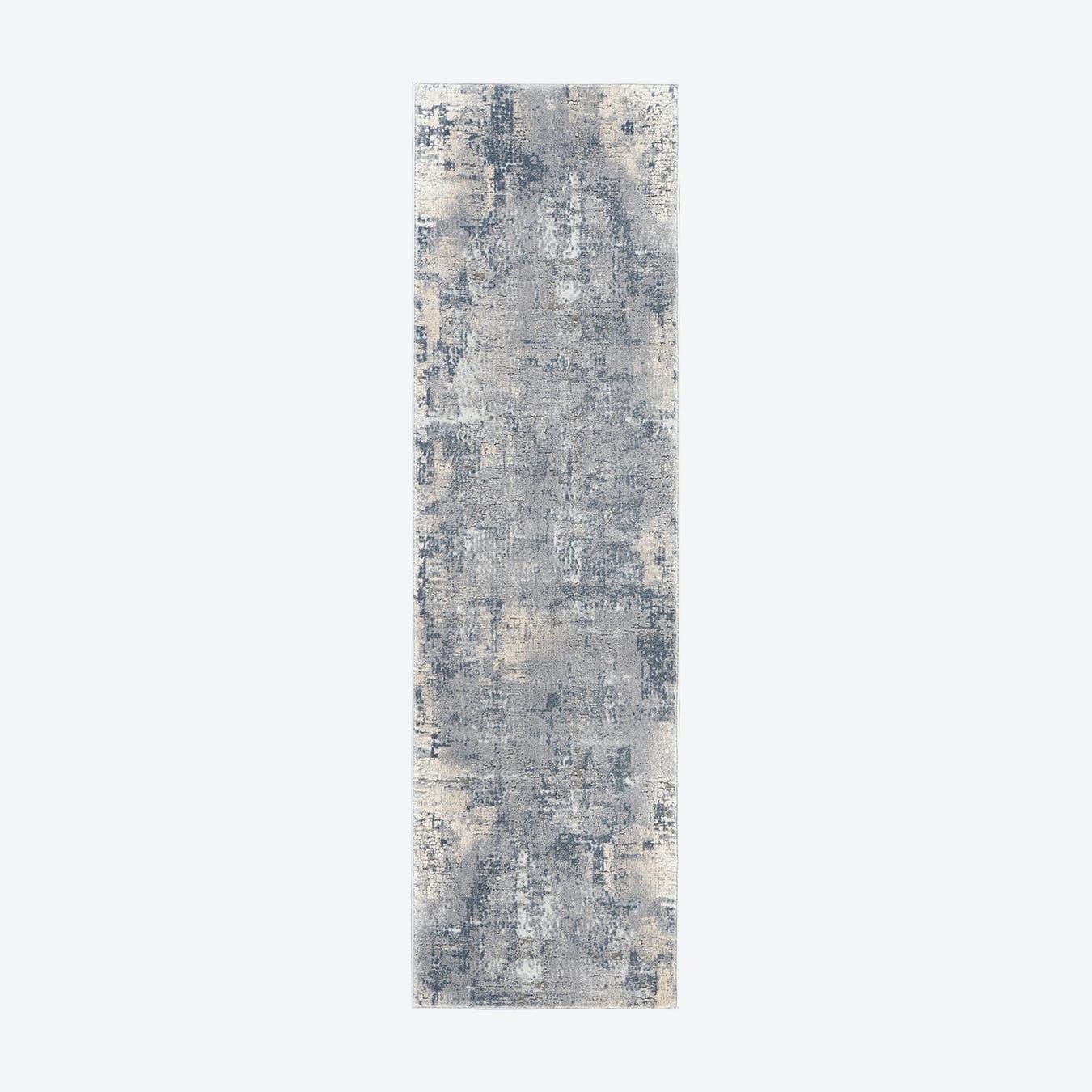 Rustic Textures Runner - Grey/Beige