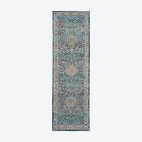 Vintage Kashan Blue Runner