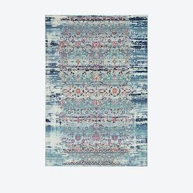 Vintage Kashan Rug - Blue