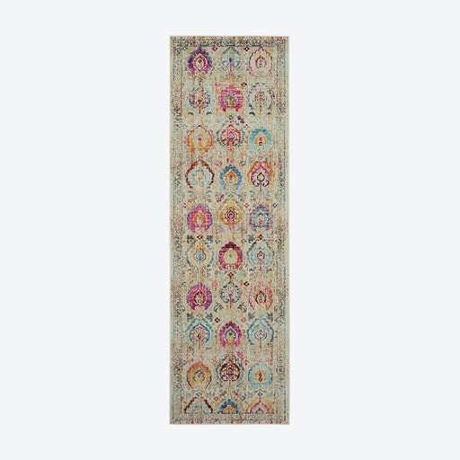 Vintage Kashan Ivory/Multi Runner