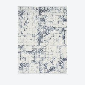 Urban Decor Ivory/Blue Rug