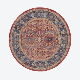 Ankara Global Red Round Rug