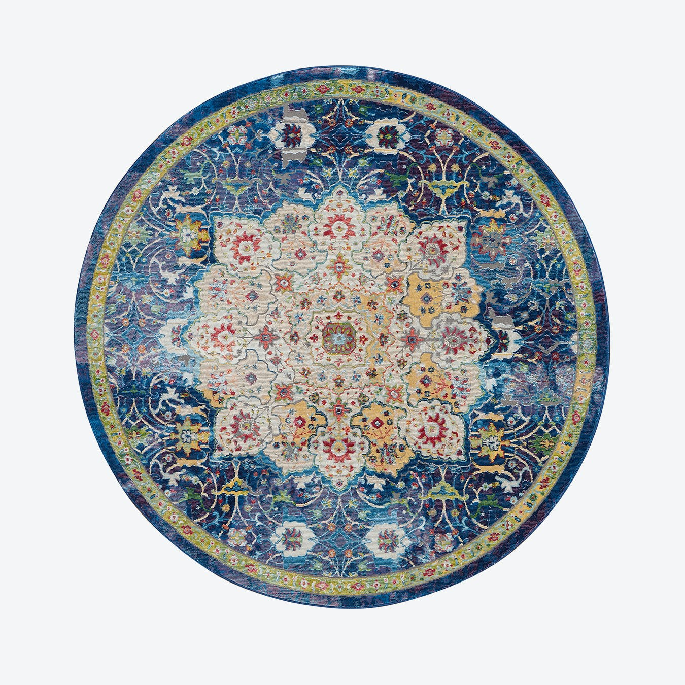 Ankara Global Blue Round Rug