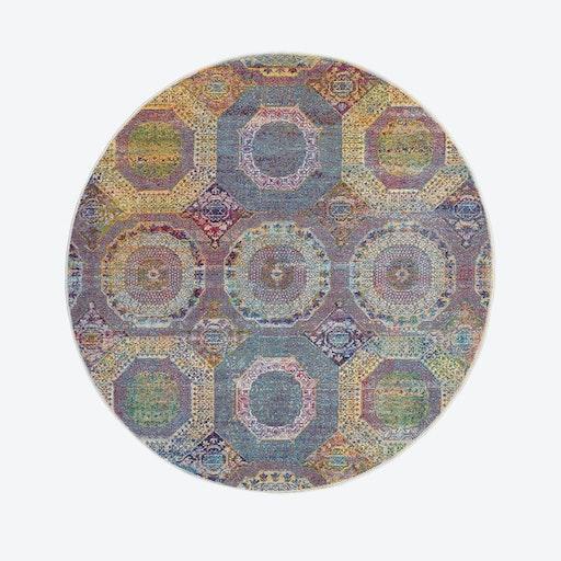 Ankara Global Multicolour Round Rug
