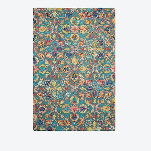 VIBRANT 08 Rug in Teal