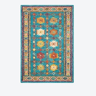 VIBRANT 09 Rug in Teal