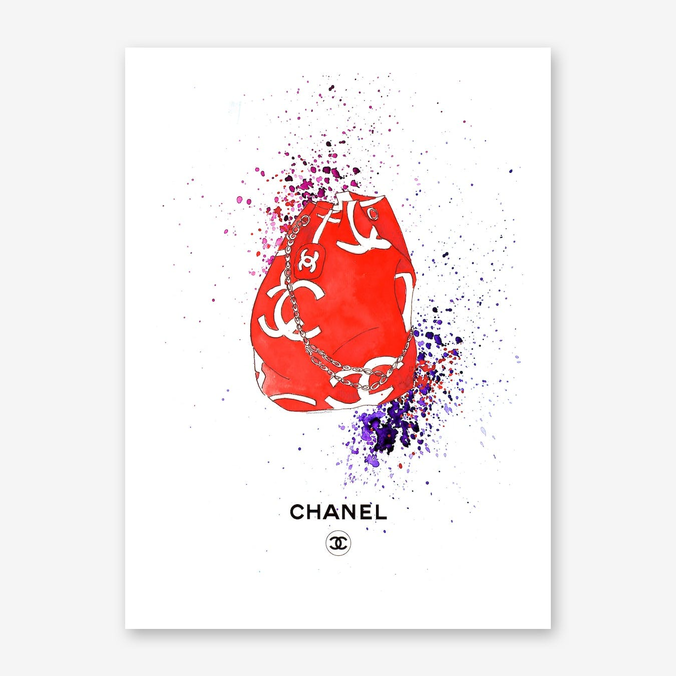 Chanel Red Sack
