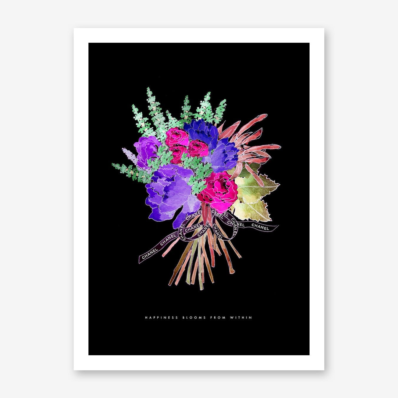 Chanel Ribbon Floral Advert