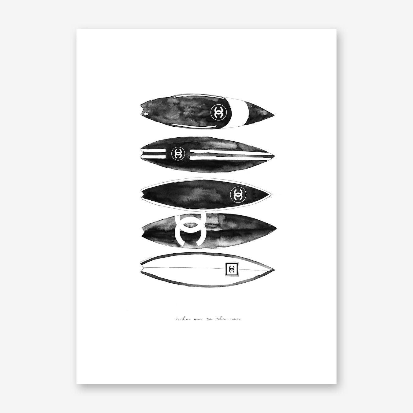 Chanel Surfboard Stacked
