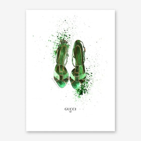 Gucci Sandals Art Print