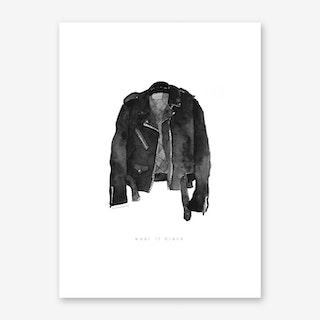 Leather Jacket Art Print